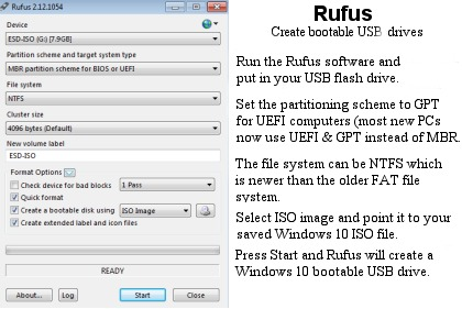 Rufus software.